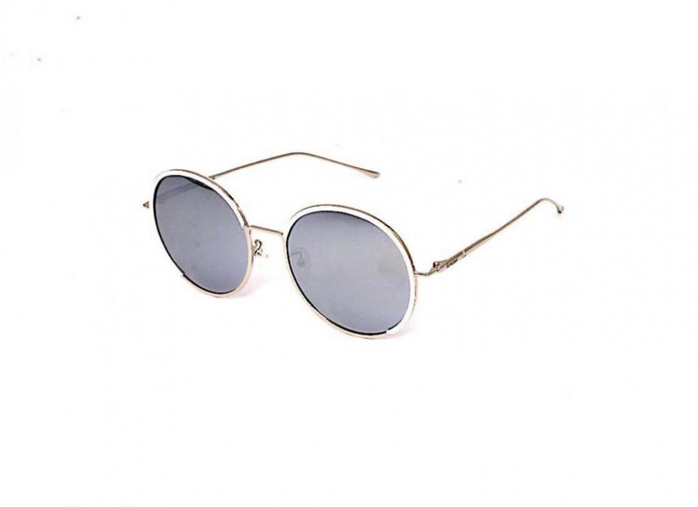 نظارة لومير شمسية للجنسين - شكل دائري - لون فضي - زكي