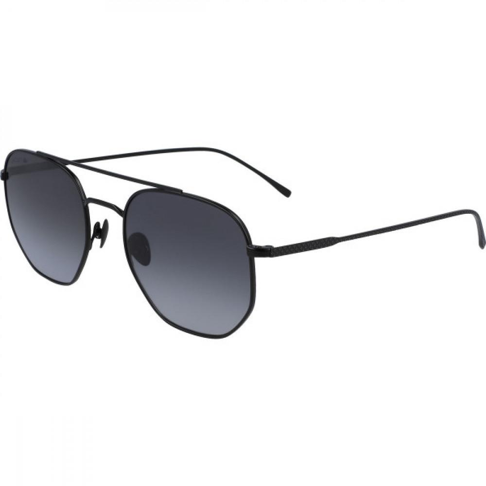 نظارة لاكوست شمسية للجنسين - شكل سداسي - لون اسود - زكي للبصريات