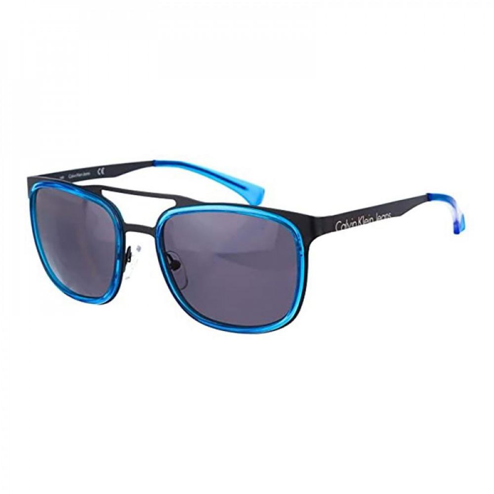 نظارات كالفن كلاين الشمسية للرجال - شكل مربع - لون ازرق - زكي للبصريات