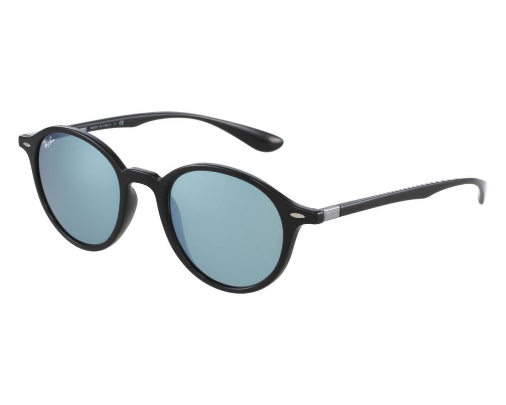 نظارة ريبان شمسية للرجال -  باللون الأسود - شكل دائري - زكي للبصريات