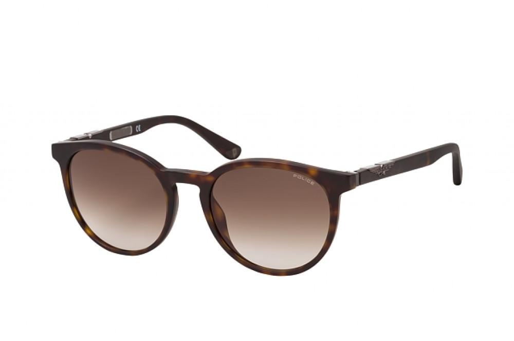 نظارة بوليس شمسية رجالية - شكل دائري - لون تايقر - زكي للبصريات
