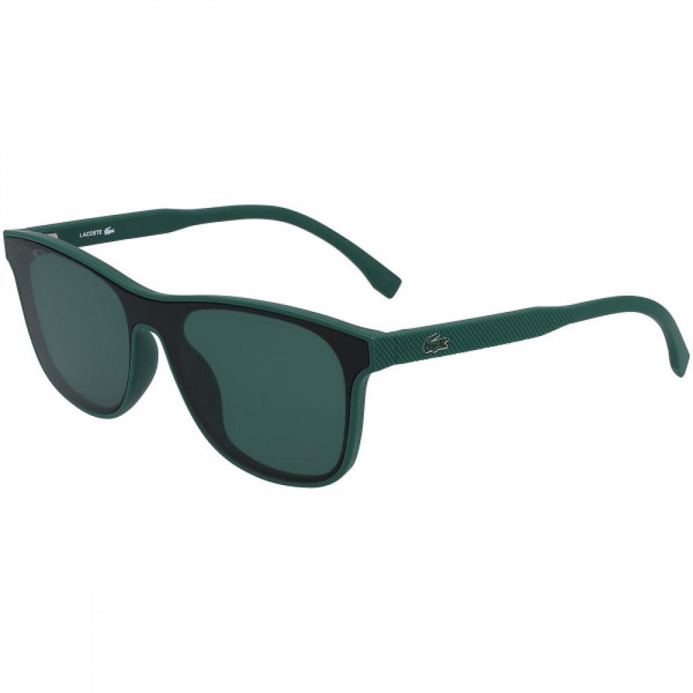 نظارة لاكوست شمسيه للاطفال - شكل مستطيل - لون اخضر - زكي