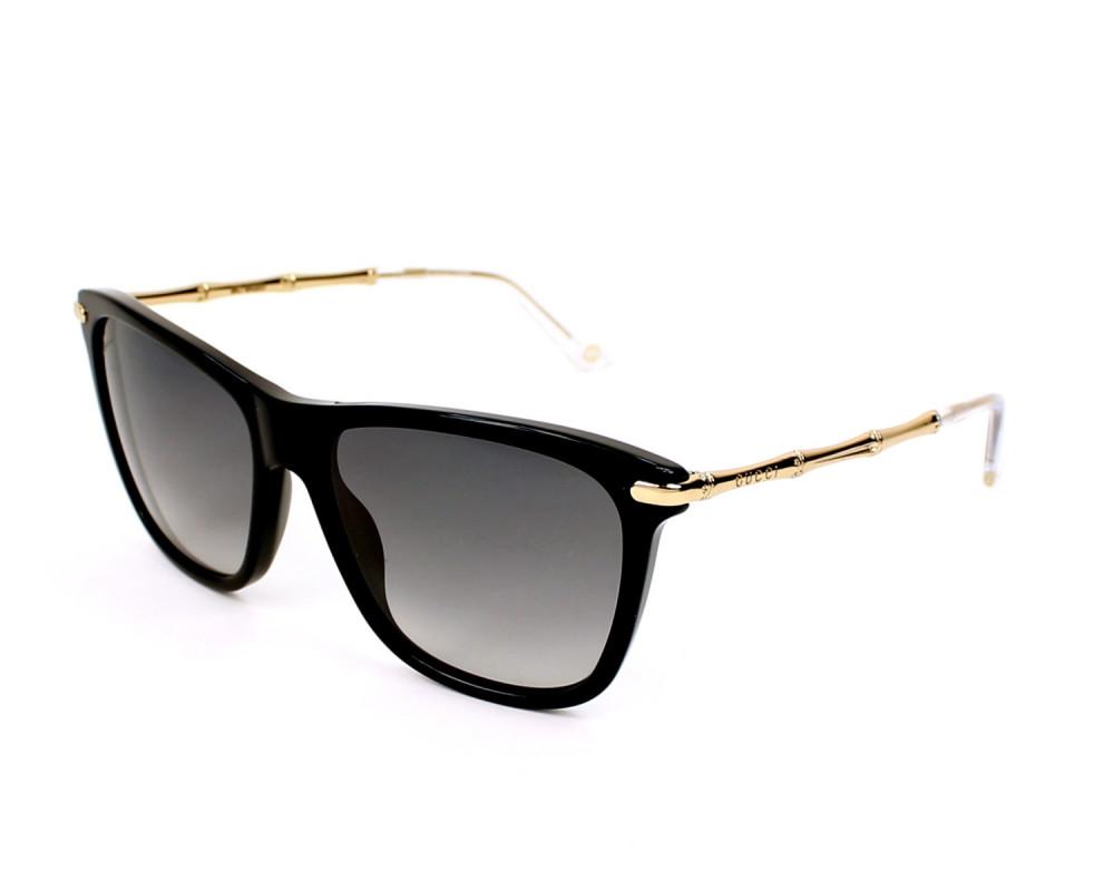 نظارة قوتشي نسائي شمسية - شكل واي فيرر - لون اسود - زكي للبصريات