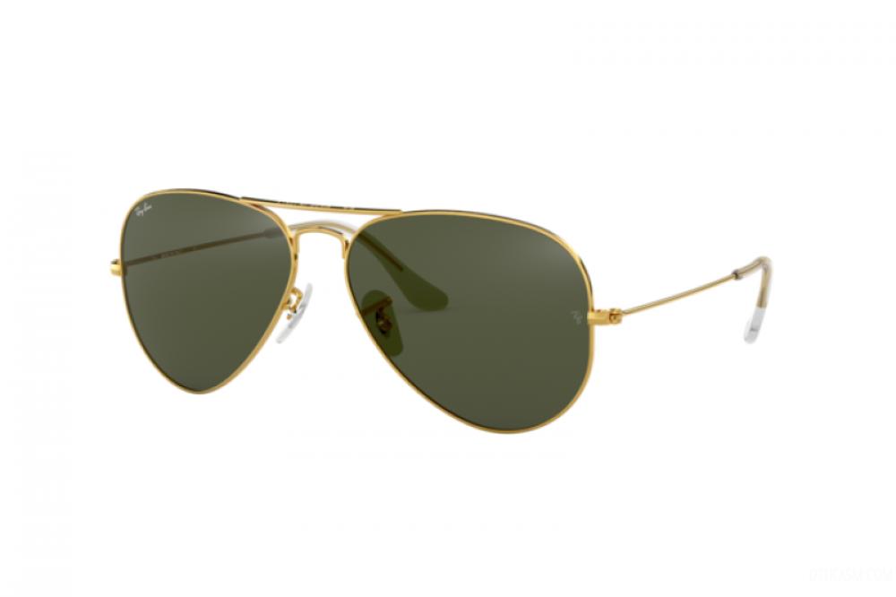نظارة ريبان شمسية نسائية ورجالية - افياتور - ذهبي - زكي للبصريات
