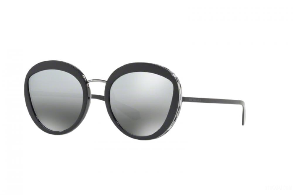 نظارة بولغاري نسائي شمسية - شكل دائري - لون اسود - زكي