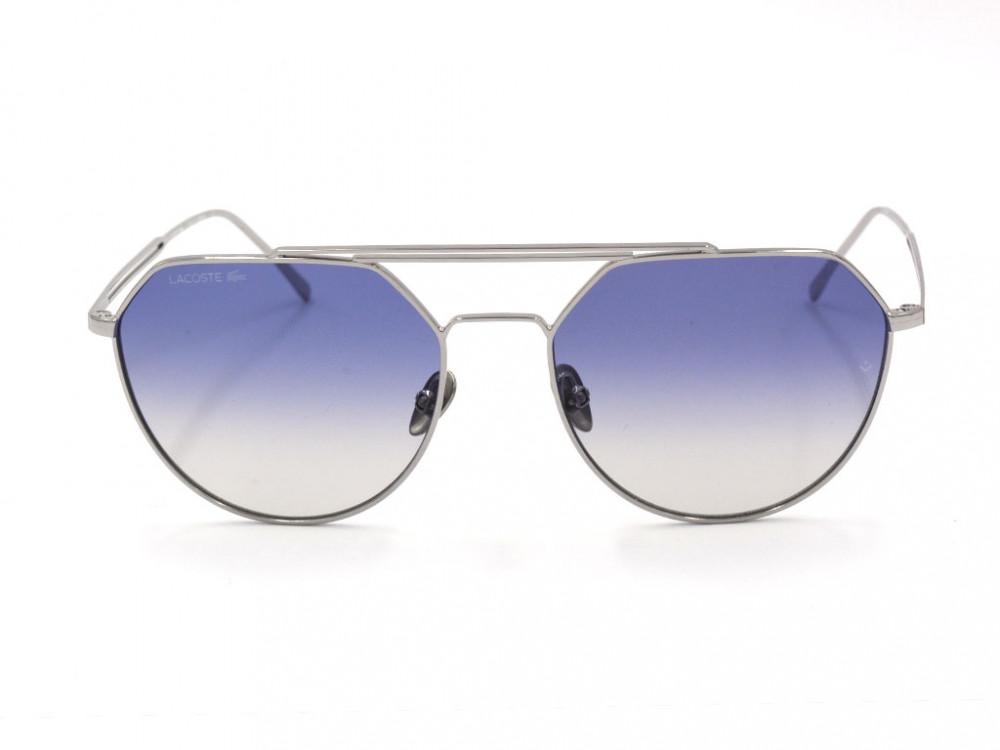 افضل نظارة لاكوست شمسية للجنسين - شكل افياتور - لون فضي - زكي للبصريات