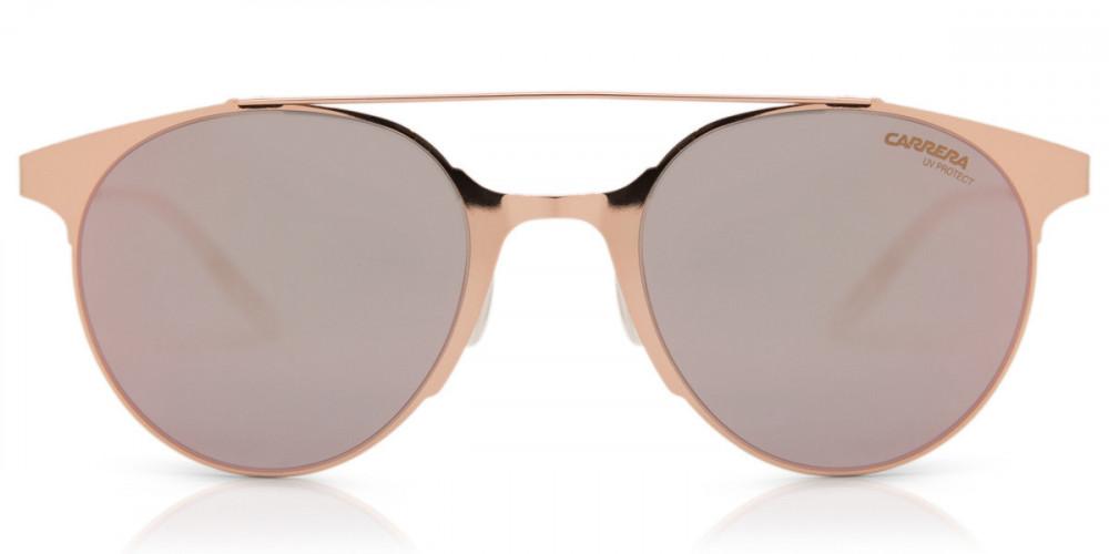 افضل نظارة كاريرا شمسية للجنسين - شكل دائري - لون ذهبي - زكي للبصريات