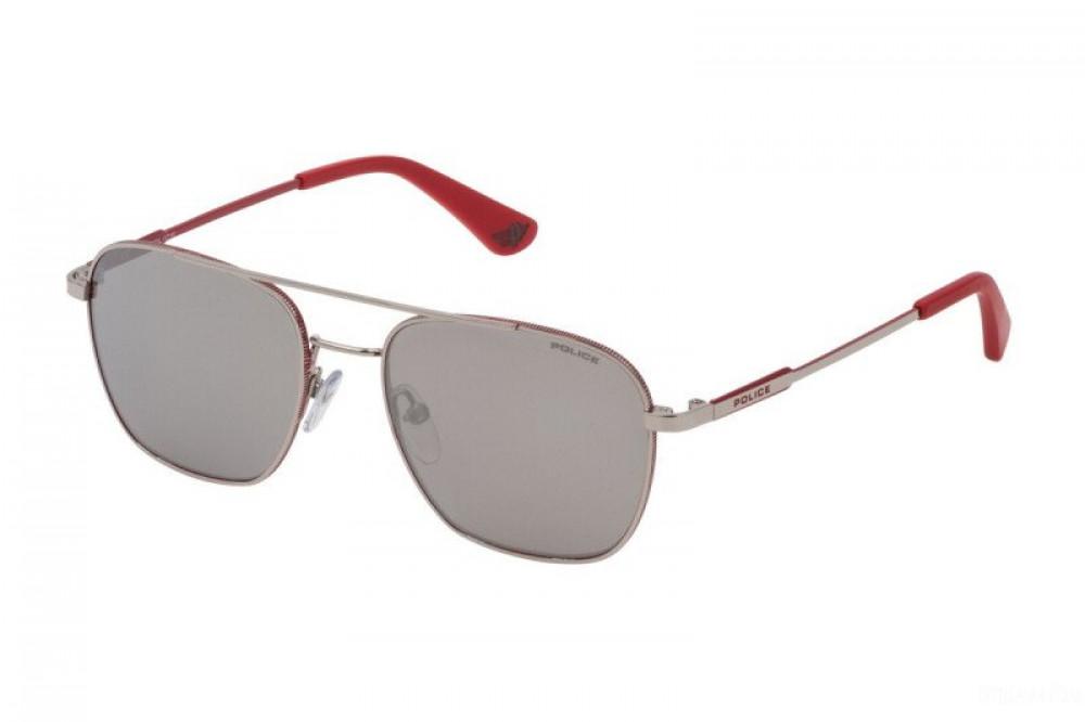 نظارة بوليس شمسية رجالية - شكل واي فيرر - لون فضي - زكي للبصريات