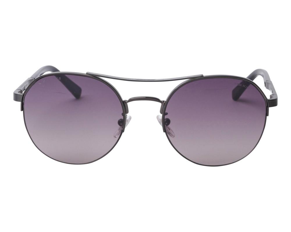 افضل نظارة بوليس شمسية للرجال - شكل دائري - اسود - زكي للبصريات