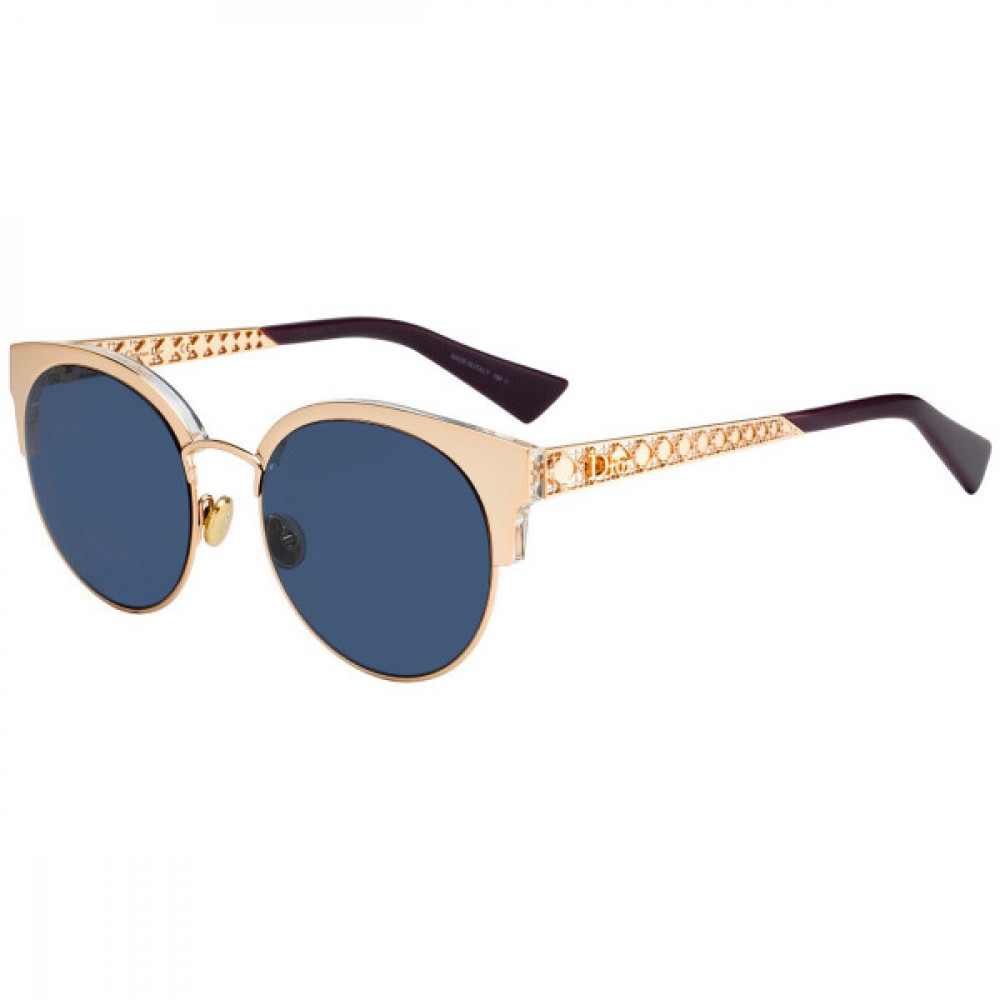 نظارات شمسية نسائية ديور - شكل كات أي - لونها ذهبي - زكي