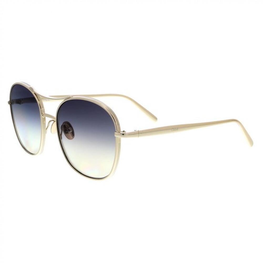 نظارة كلوي شمسية للنساء - شكل دائري - لون نحاسي - زكي