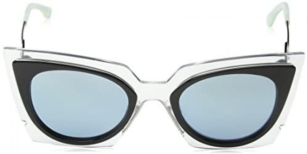 شراء نظارة فندي نسائي شمسية - شكل غير منتظم - لونها أسود - زكي