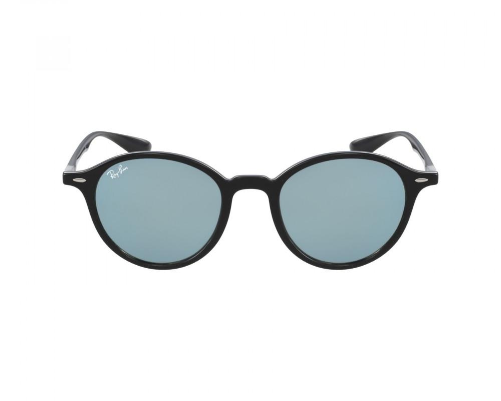 افضل نظارة ريبان شمسية للرجال -  باللون الأسود - شكل دائري - زكي للبصر