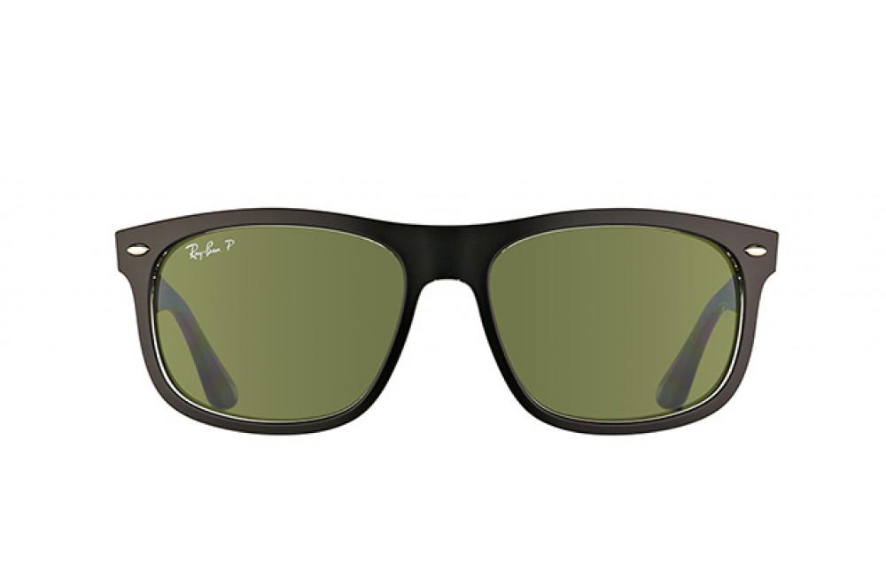 افضل نظارة ريبان شمسية للرجال -  أسود - شكل مربع - زكي للبصريات