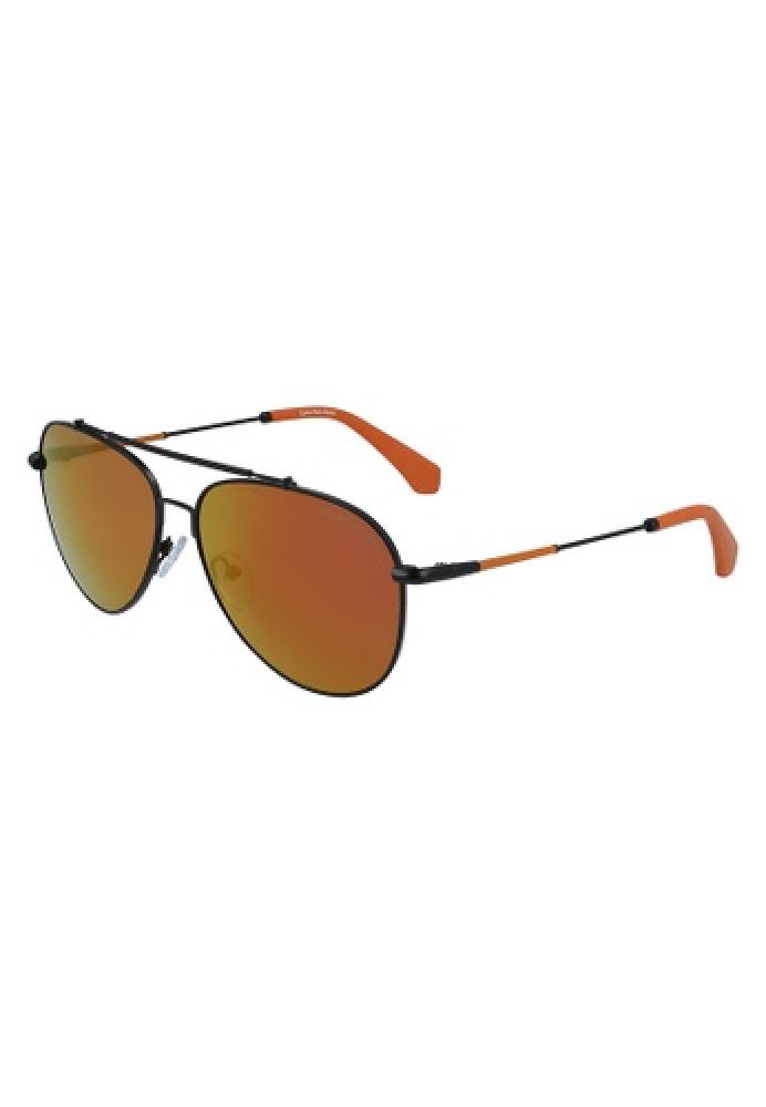نظارات كالفن كلاين الشمسية للجنسين - شكل افياتور - اسود - زكي للبصريات