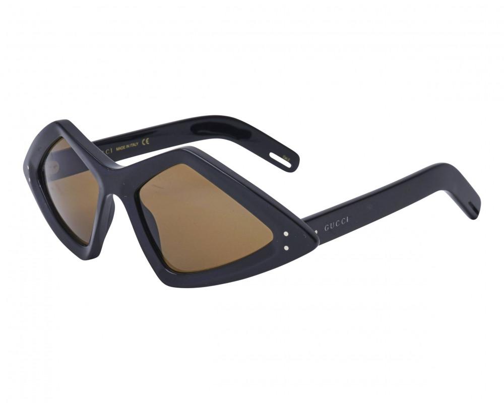 نظارة قوتشي شمسية للجنسين - شكل غير منتظم - لون أسود - زكي للبصريات