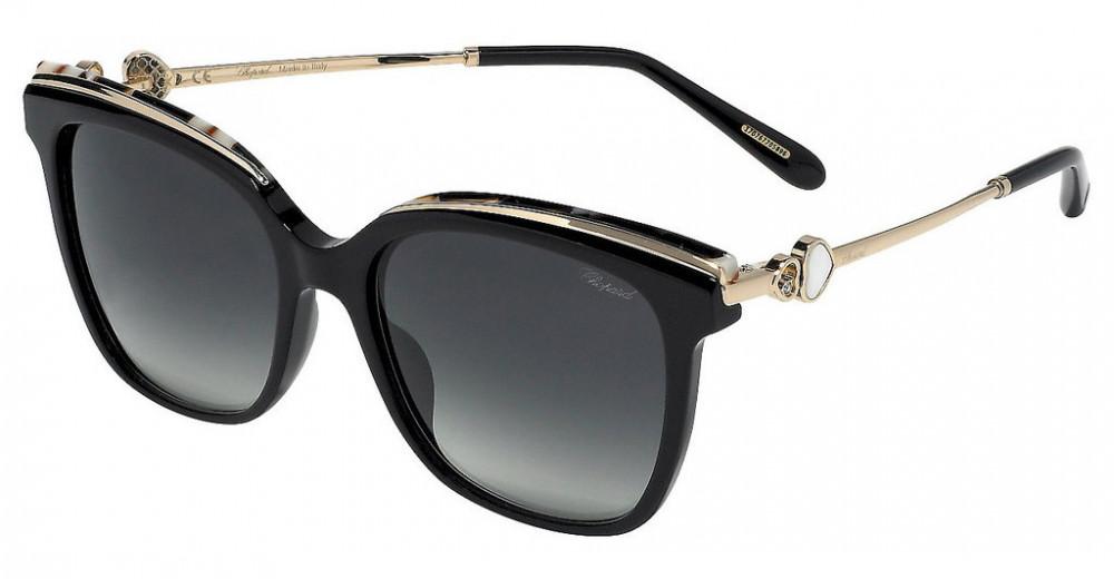 نظارات شوبارد نسائية شمسية - شكلها مربع - لون اسود - زكي