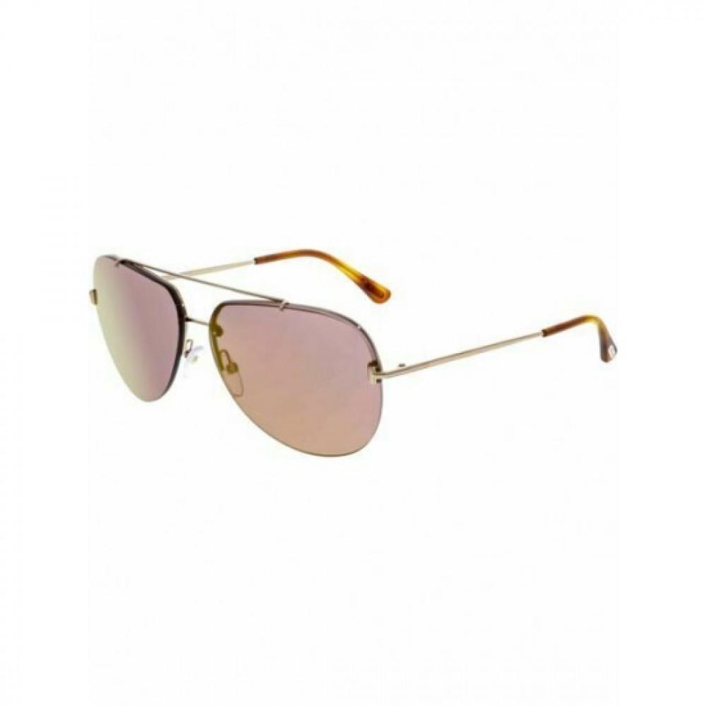 نظارات توم فورد نسائي شمسية - شكل افياتور - لون ذهبي - زكي للبصريات