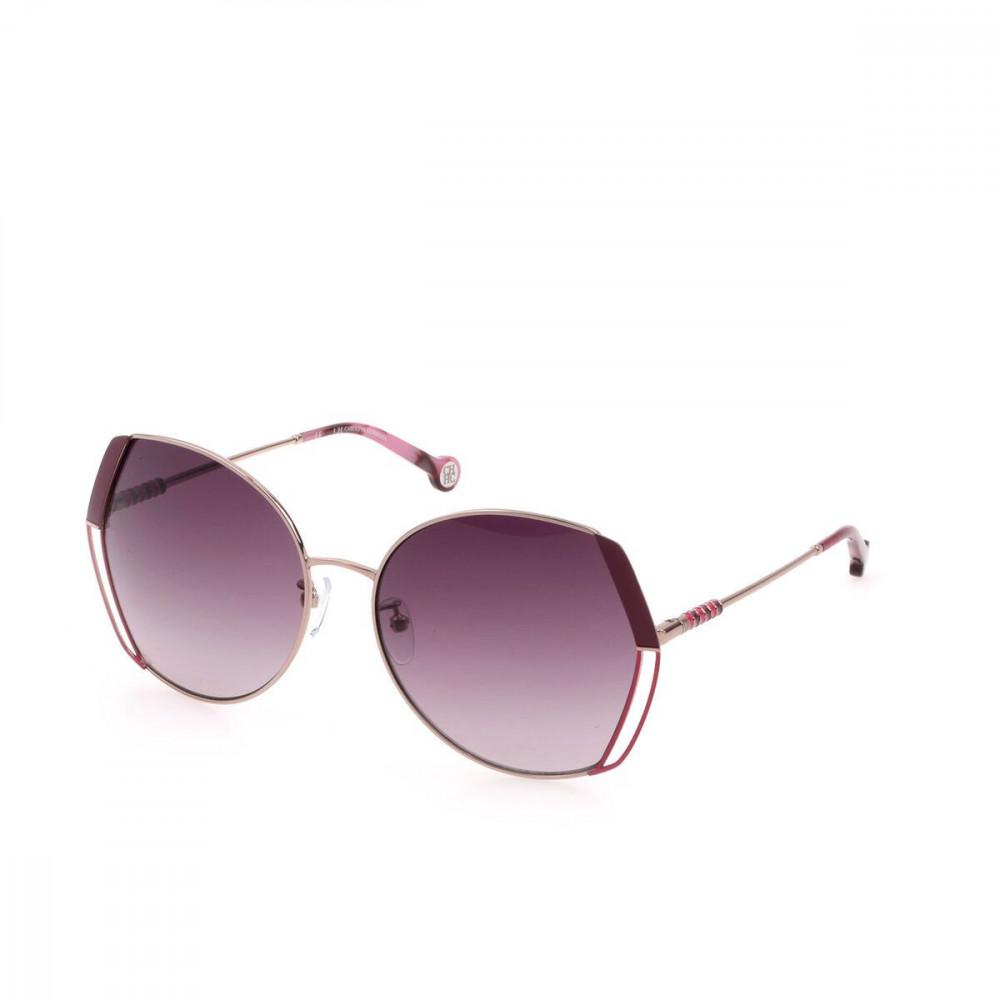 نظارات كارولينا شمسية للنساء - غير منتظمة الشكل - لون ذهبي - زكي