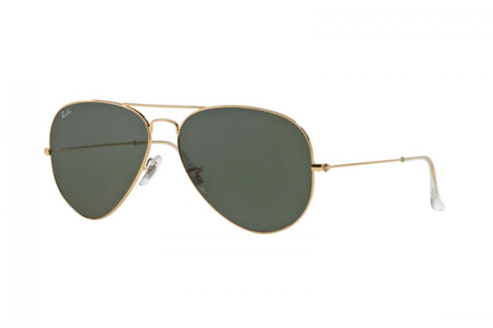 نظارة ريبان شمسيه للرجال والنساء - شكل افياتور - لون ذهبي - زكي