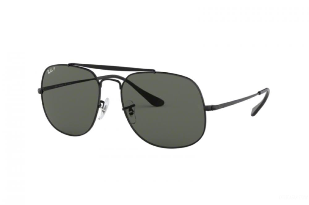نظارة ريبان شمسية للرجال - مربعة الشكل - لون اسود - زكي للبصريات