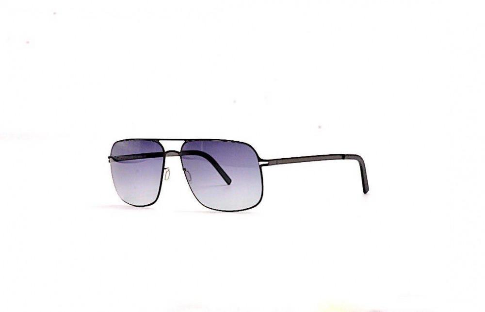نظارة لومير شمسية للرجال - شكل غير منتظم - لون رمادي - زكي