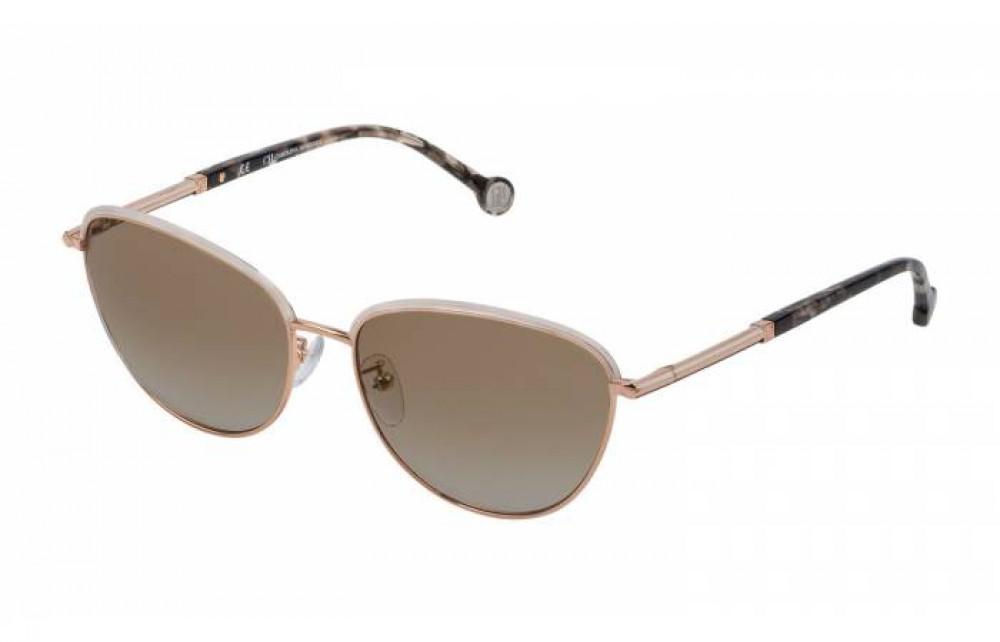 نظارات كارولينا شمسية للنساء - شكل كات أي - لون ذهبي - زكي