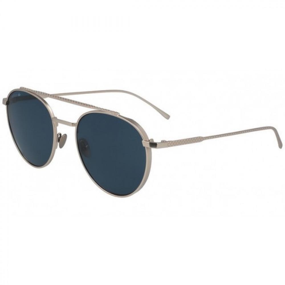 نظارة لاكوست شمسية للجنسين - شكل دائري - لون فضي - زكي للبصريات