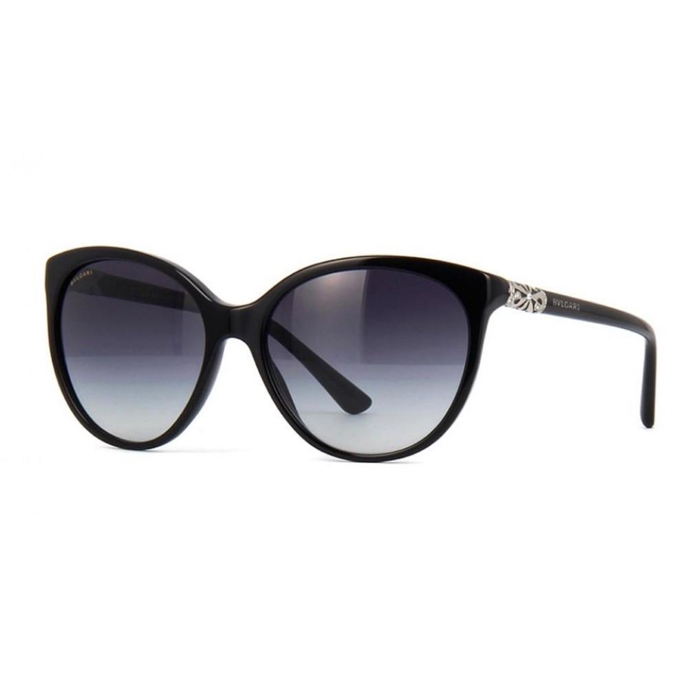 افضل نظارة بولغاري نسائي شمسية - شكل بيضوي - لون أسود - زكي