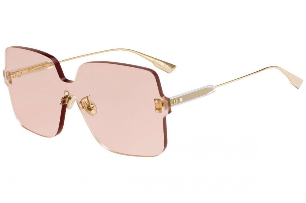 نظارات شمسية نسائية ديور - شكل مربع - لون وردي - زكي