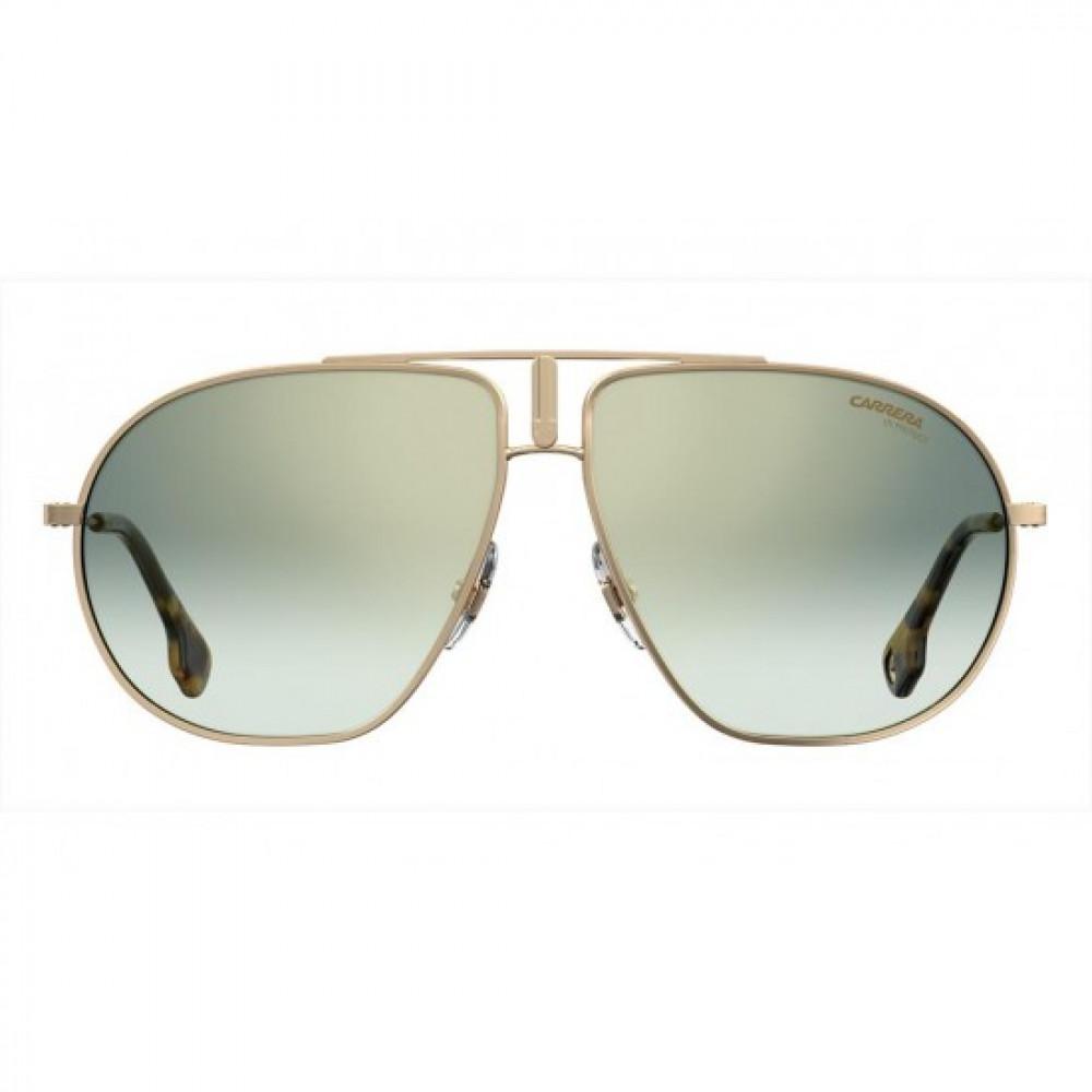 نظارة كاريرا شمسية للرجال - شكلها افياتور - لونها ذهبي - زكي للبصريات