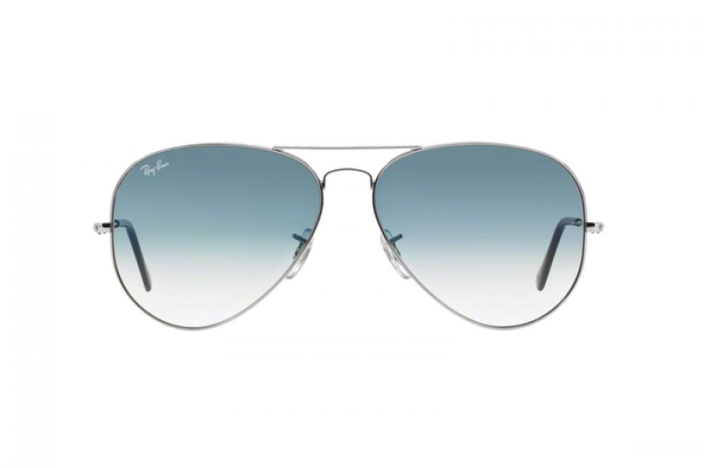 افضل نظارة ريبان شمسية رجالية - شكل افياتور - لون فضي - زكي للبصريات
