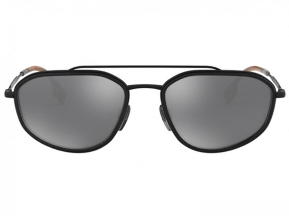 سعر نظارة بربري شمسية للرجال - شكل غير منتظم - لون أسود - زكي للبصريات