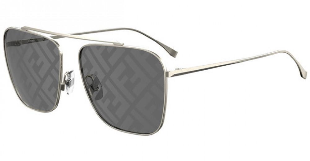 نظارة فندي شمسية للجنسين - شكل مستطيل - لون فضي - زكي للبصريات