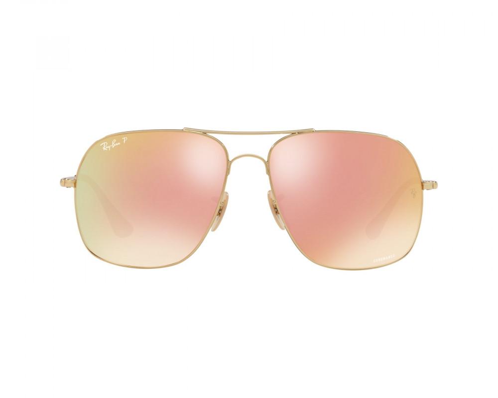 سعر نظارة ريبان شمسية للرجال - لون ذهبي - مربعة الشكل - زكي للبصريات