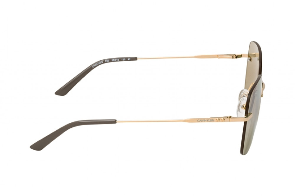شراء نظارة شمسية كالفن كلاين للنساء - شكل مربع - لون عسلي - زكي