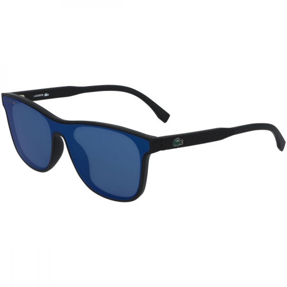 نظارة لاكوست شمسيه للاطفال - شكل مستطيل - لون اسود - زكي