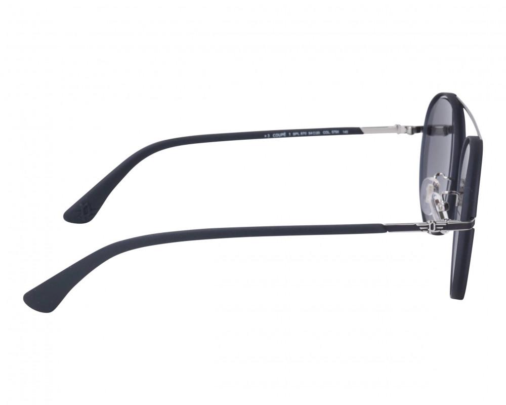 احسن نظارة بوليس شمسيه للرجال - شكل دائري - لون أسود - زكي للبصريات