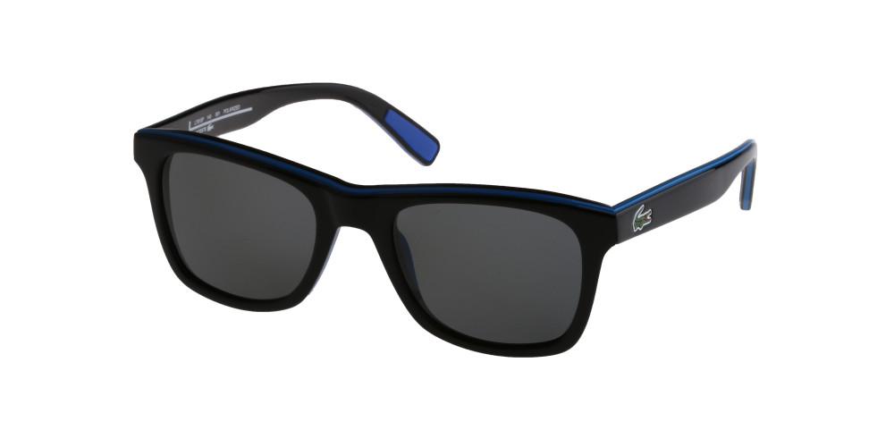 نظارة لاكوست شمسية للرجال - شكل مستطيل - لون أسود - زكي للبصريات