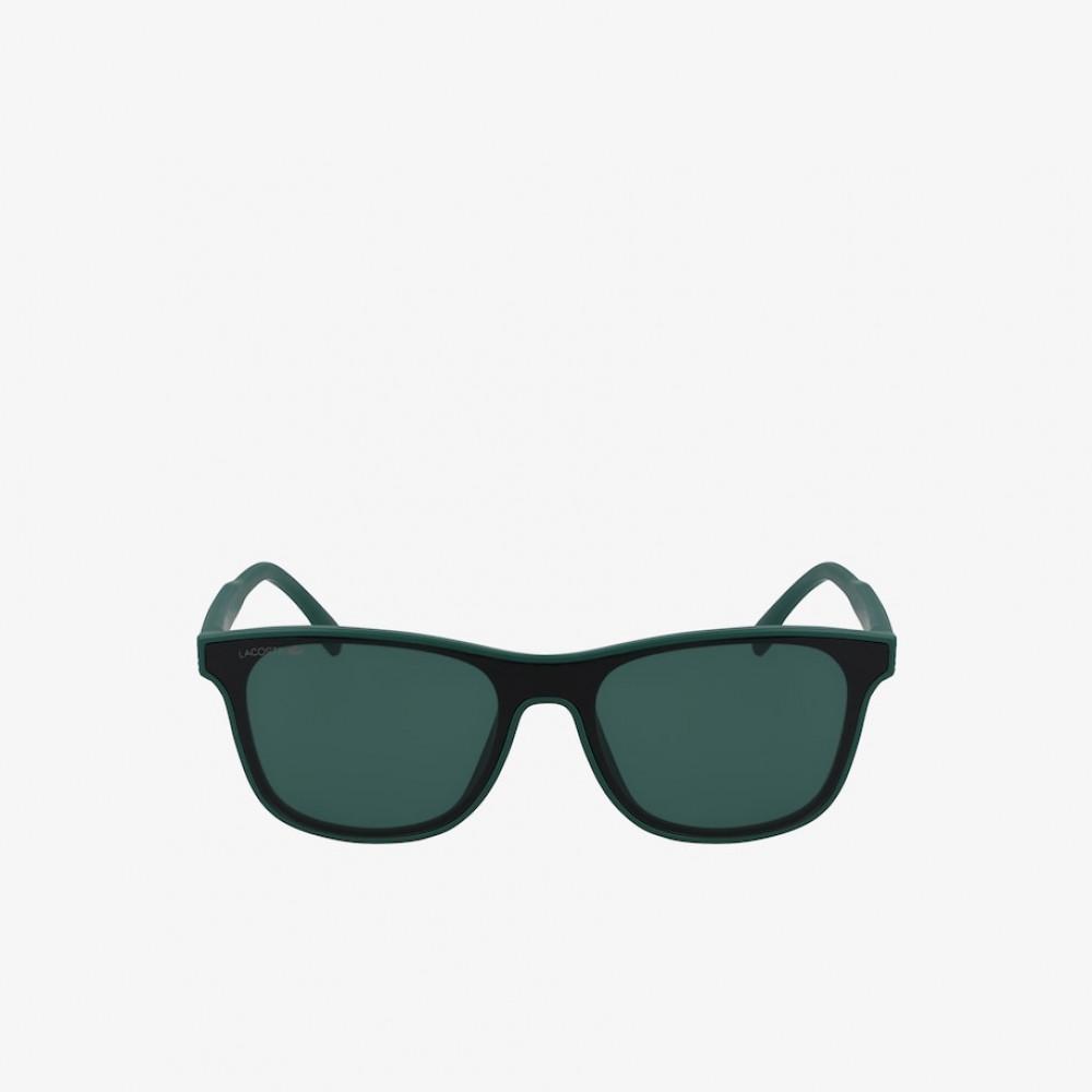 سعر نظارة لاكوست شمسيه للاطفال - شكل مستطيل - لون اخضر - زكي