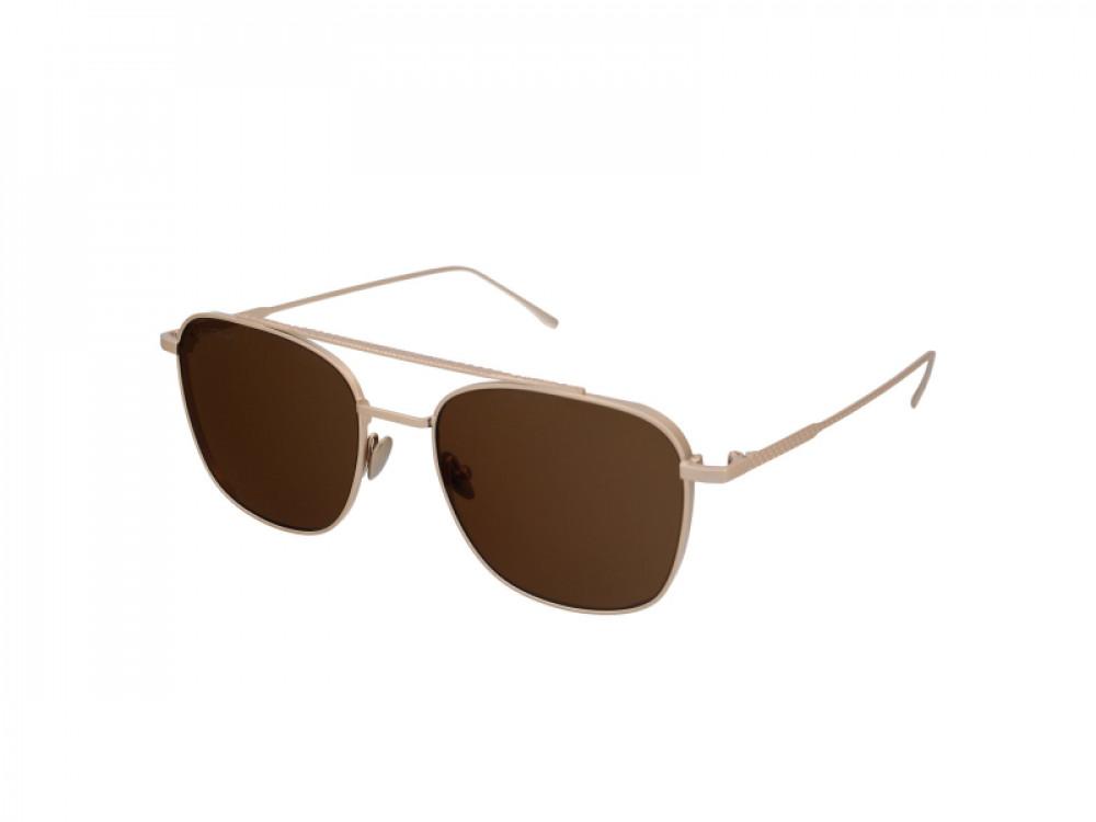 نظارة لاكوست شمسية للجنسين - شكل افياتور - لون ذهبي - زكي للبصريات