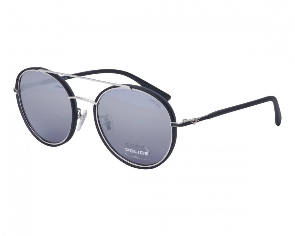 نظارة بوليس شمسيه للرجال - شكل دائري - لون أسود - زكي للبصريات