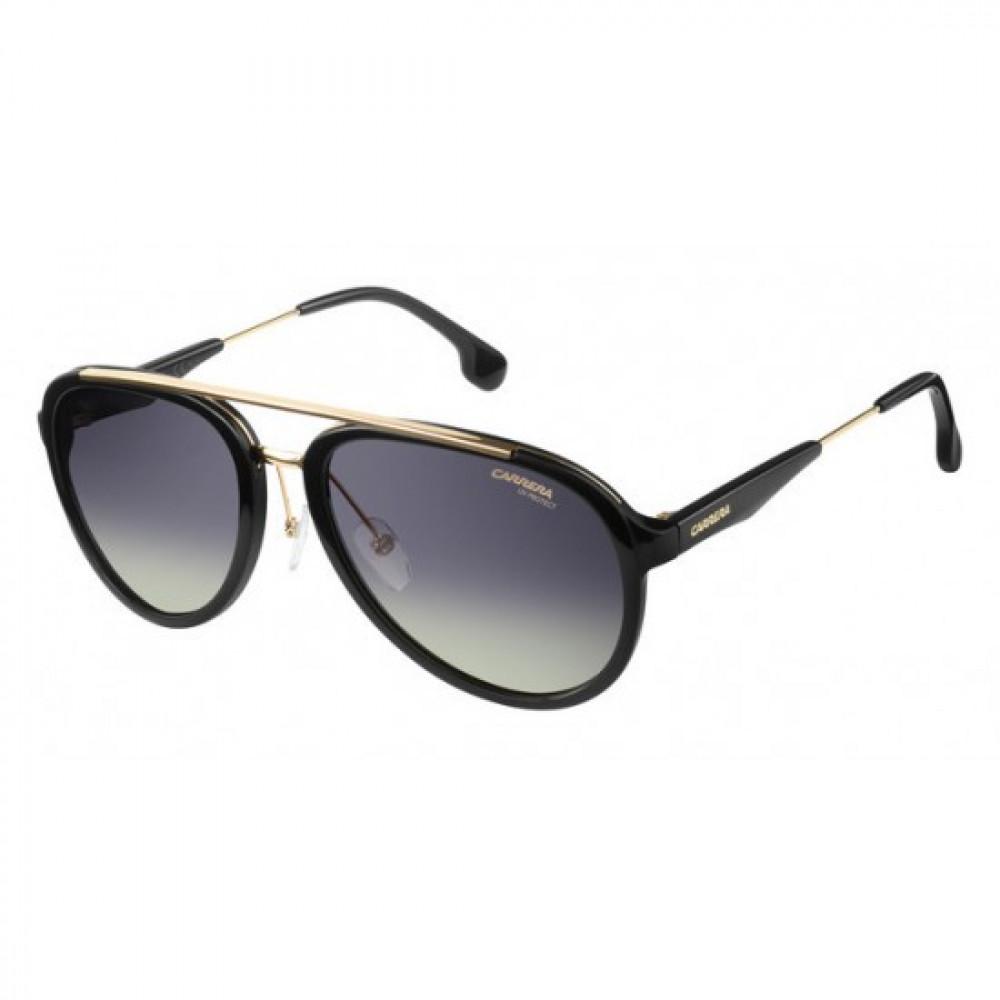 نظارة كاريرا شمس رجالي - شكل افياتور - لون أسود - زكي للبصريات