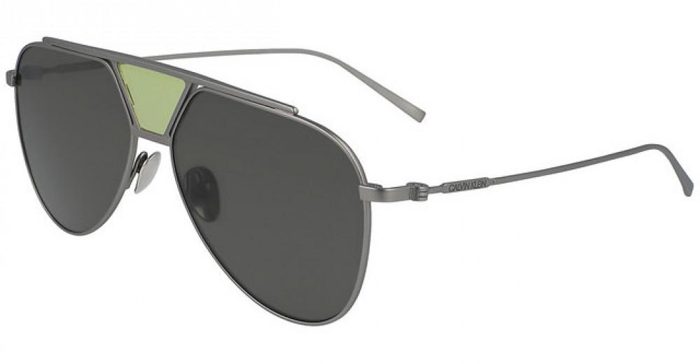 نظارات كالفن كلاين الشمسية للرجال - شكل افياتور - فضي - زكي للبصريات