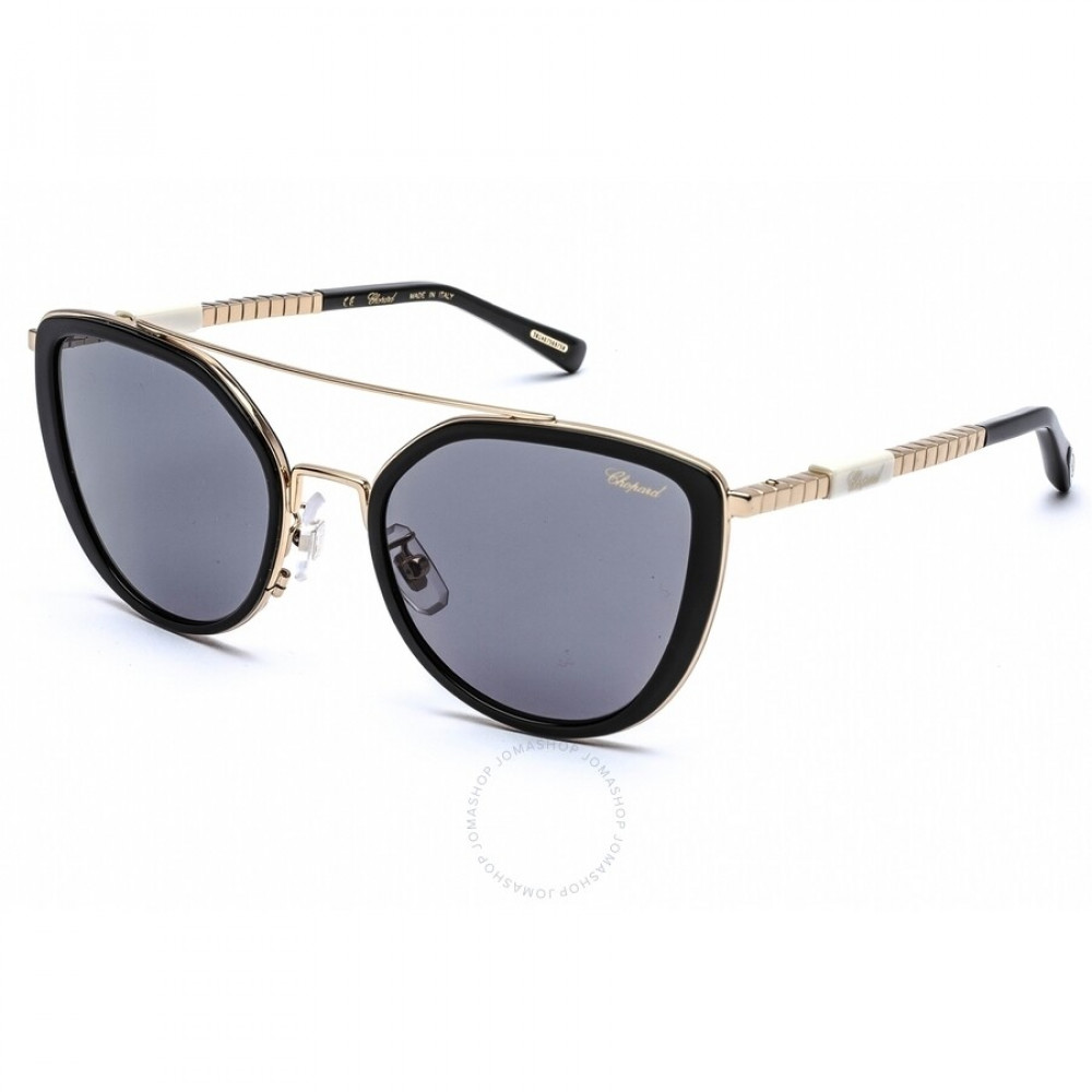 نظارات شوبارد نسائية شمسية - شكل مربع - لون اسود - زكي
