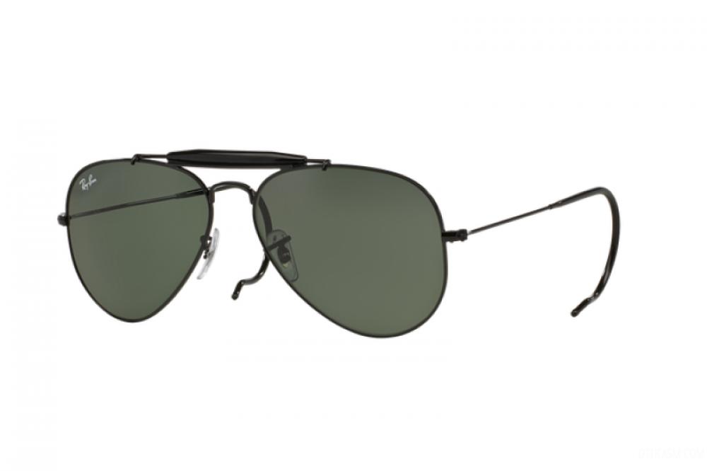 افضل نظارة ريبان شمسية رجالي - اسود - افياتور - زكي للبصريات