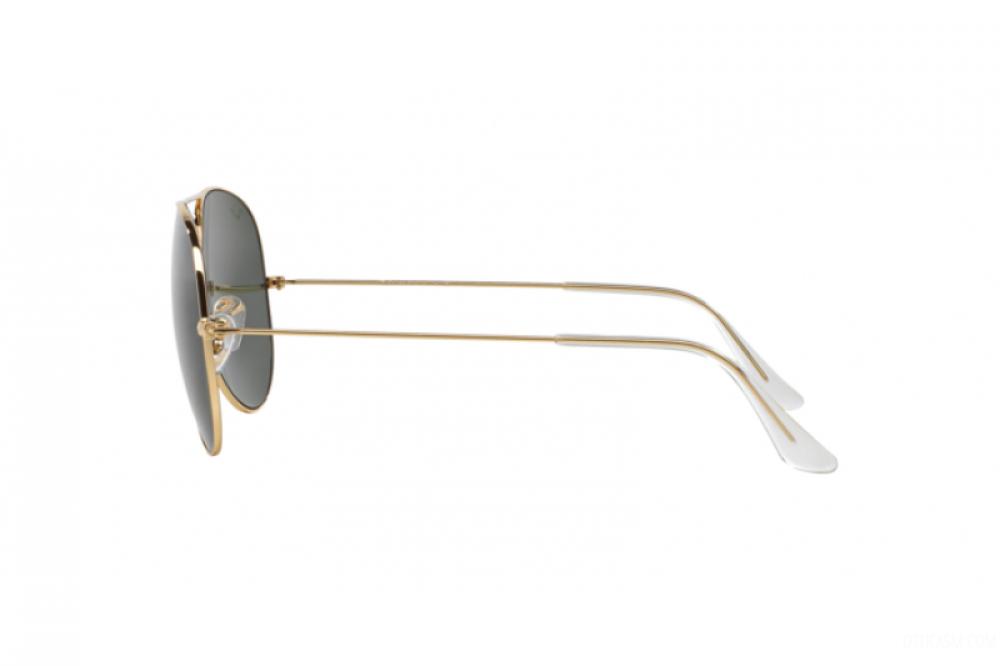 احسن نظارة ريبان شمسيه للرجال والنساء - شكل افياتور - لون ذهبي - زكي