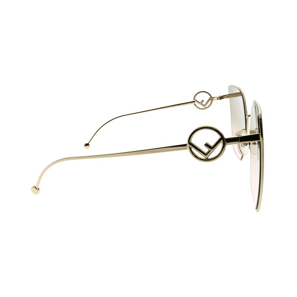 سعر نظارة فندي نسائي شمسية - شكل مربع - لون ذهب - زكي