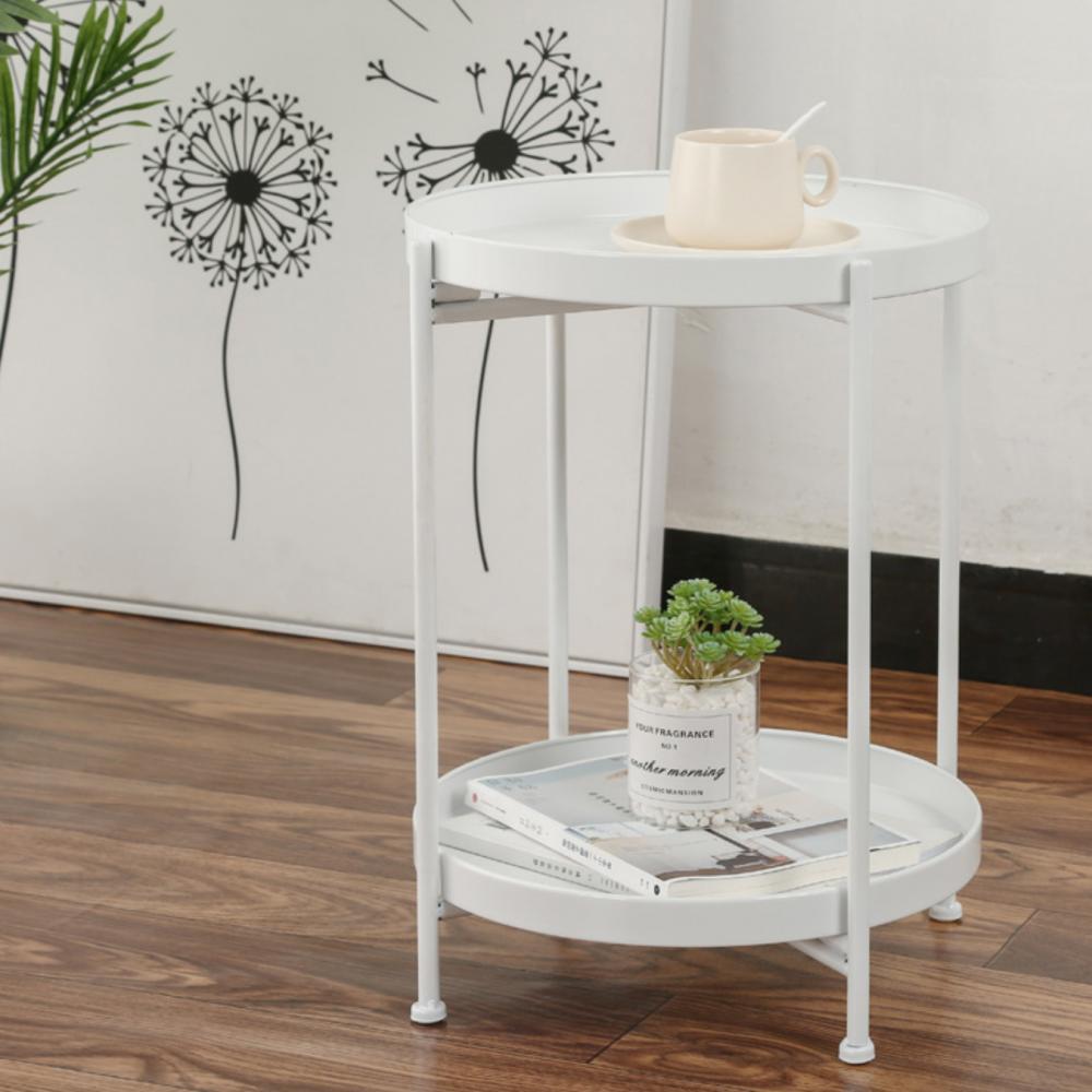 طاولة جانبية بيضاء