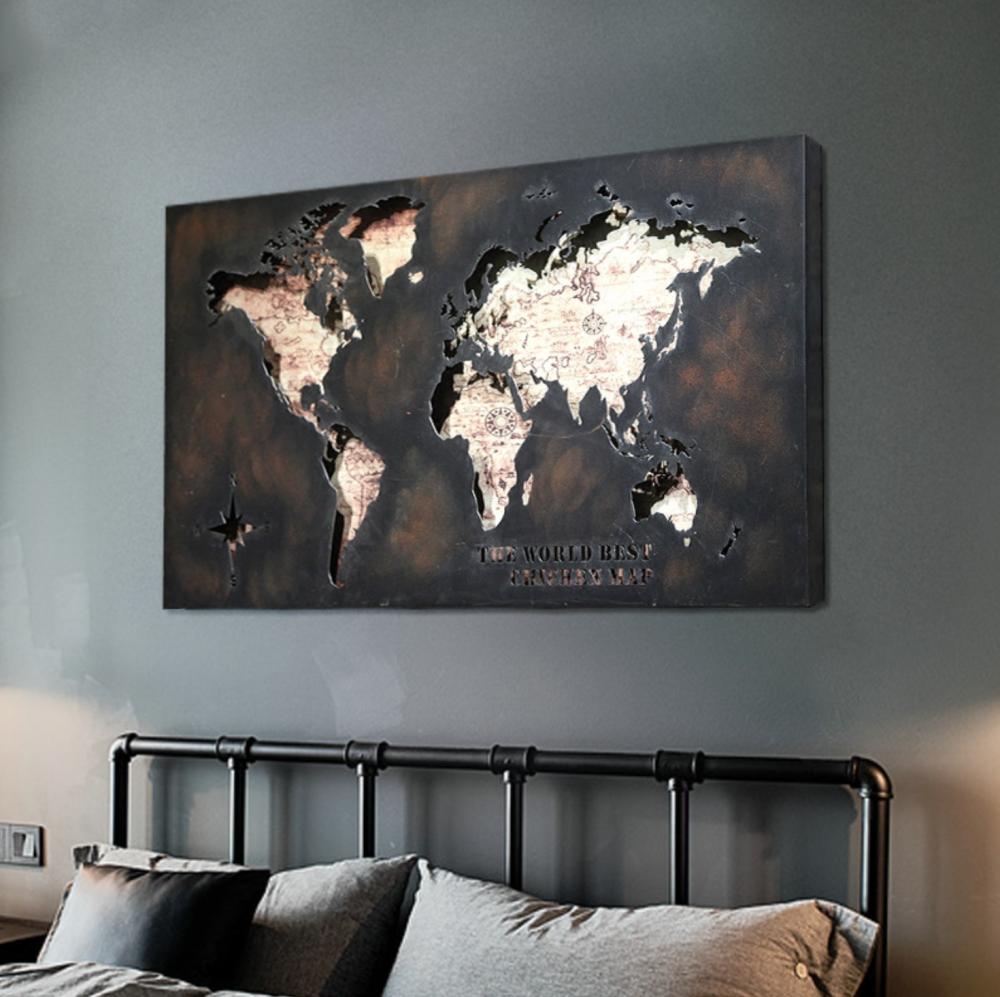 لوحة خريطة العالم ايكيا